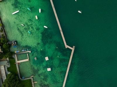Zurich lake at Rote Fabrik