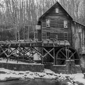 Black and white grist mill