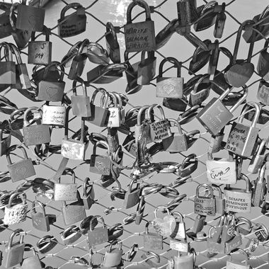 I took this photo when we visited Salzburg, Austria, in the year 2016. I noticed all these padlocks that represented love all over the bridge and I thought it would be a good composition.