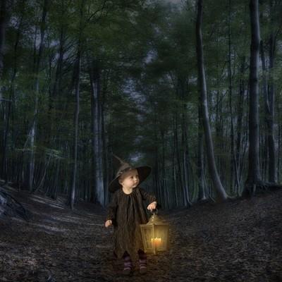 Little halloween witch