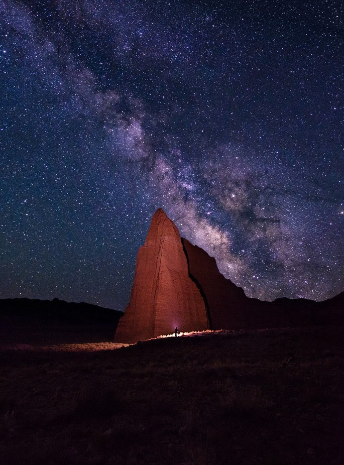 Night at the temple by prajitr - The Night Sky And The Stars Photo Contest