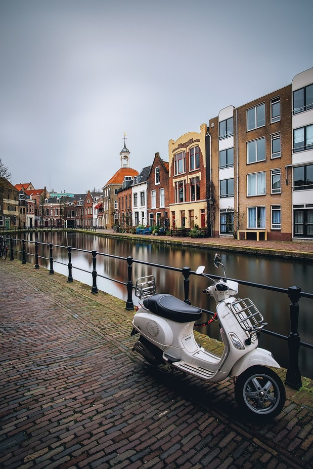 Vespa in Schiedam  by carmenioneanu - Canals Photo Contest