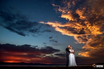 Epic Lake Tahoe Wedding Sunset