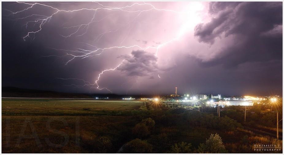 Summer storm near the city ...