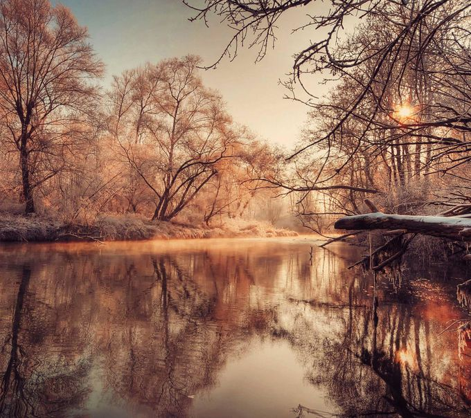 Winter Reflection  by CariHannafordPhotography - Fall 2017 Photo Contest