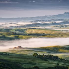 Mist Swirling through Val d'Orcia
