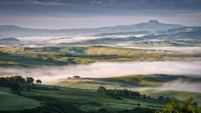 Mist Swirling through Val d