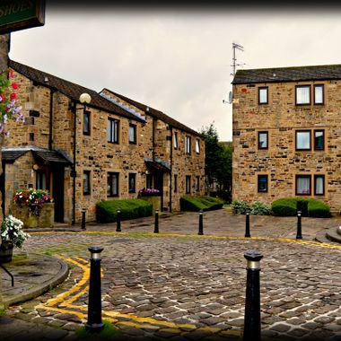 Lovely Yorkshire Stone houses in Skipton Yorkshire.