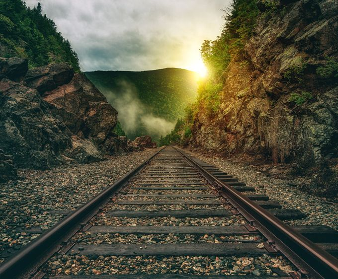 Mountain Train Tracks by designsbywilliam - Empty Railways Photo Contest