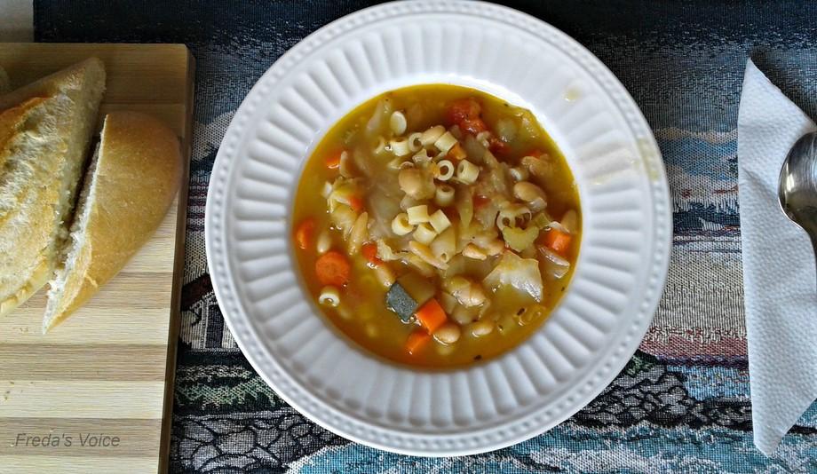 Recipe; http://www.fredasvoice.com/2017/08/recipe-minestrone-soup.html