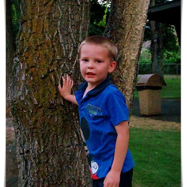 Boy By the Tree 1