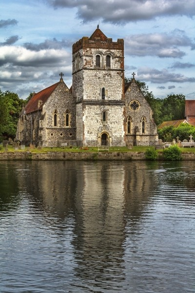 Bisham Church Reflected