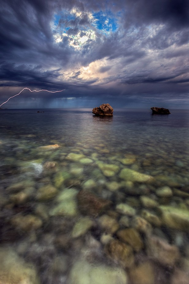 Between The Devil and The Deep Blue Sea by WildEssence - A Storm Is Coming Photo Contest