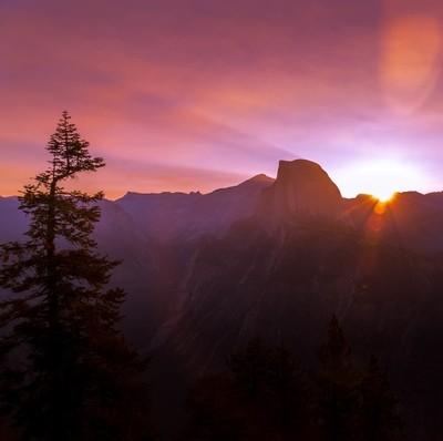 Sunrise at Half Dome (1 of 1)