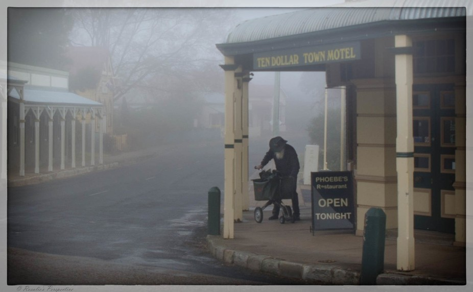 Recent visit to Gulgong NSW transcended one to another time. The Postie appeared to be in character!