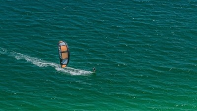 Windsurfer in the Gulf