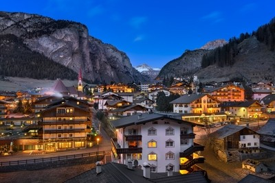 Selva Val Gardena in the Evening
