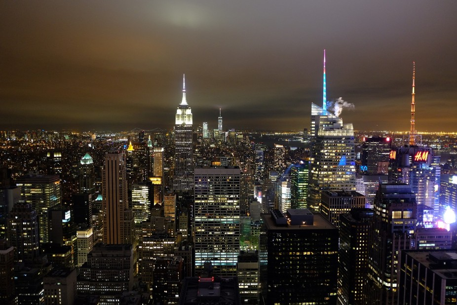 View from top of Rockefeller Centre, NYC