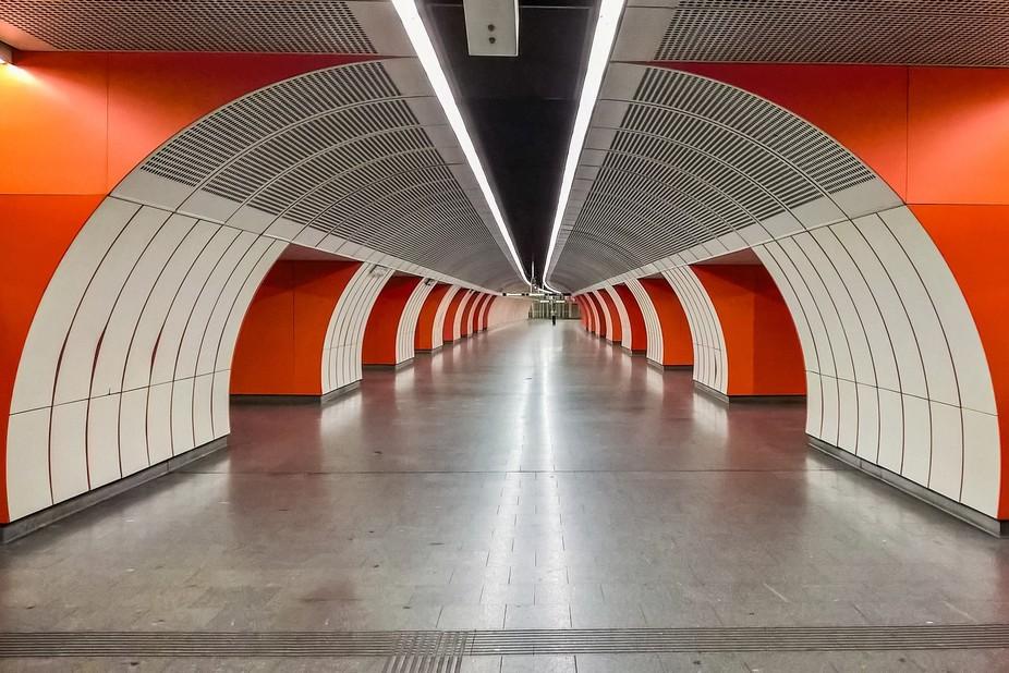U3 - Underground station in Vienna.