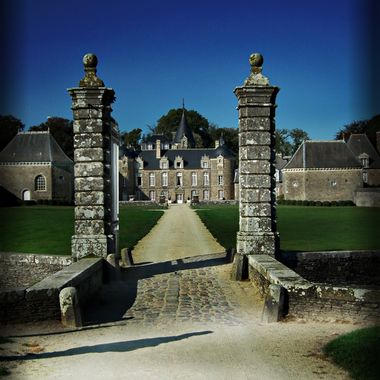 The gates to a French Chateau.