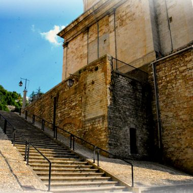Italian Stairs in Assisi Italy.