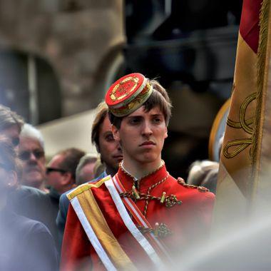 A young man on Parade at Libori festival Paderborn.