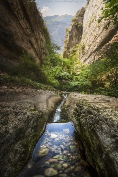 The path of the water
