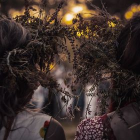 The holiday of Ivan Kupala in Ukraine on the island of Khortitsa. An ethnic holiday with many rites of the ancient Slavs. Do not explain everythi...