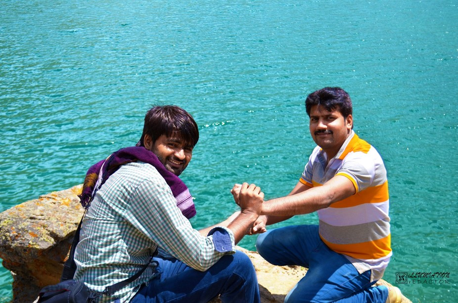 Rao Kanwar Waqar and Israr Ahmad Raaz was seated at Lulu Sar Lake. This beautiful image was captu...