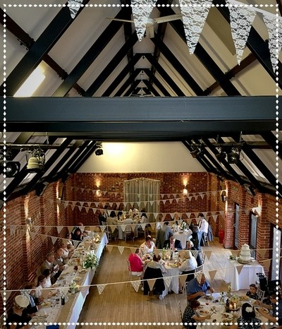 Quirky Barns or Village Halls can make a lively backdrop to a #rustic theme or #vintage theme wedding as done here so well at #EversholtHall