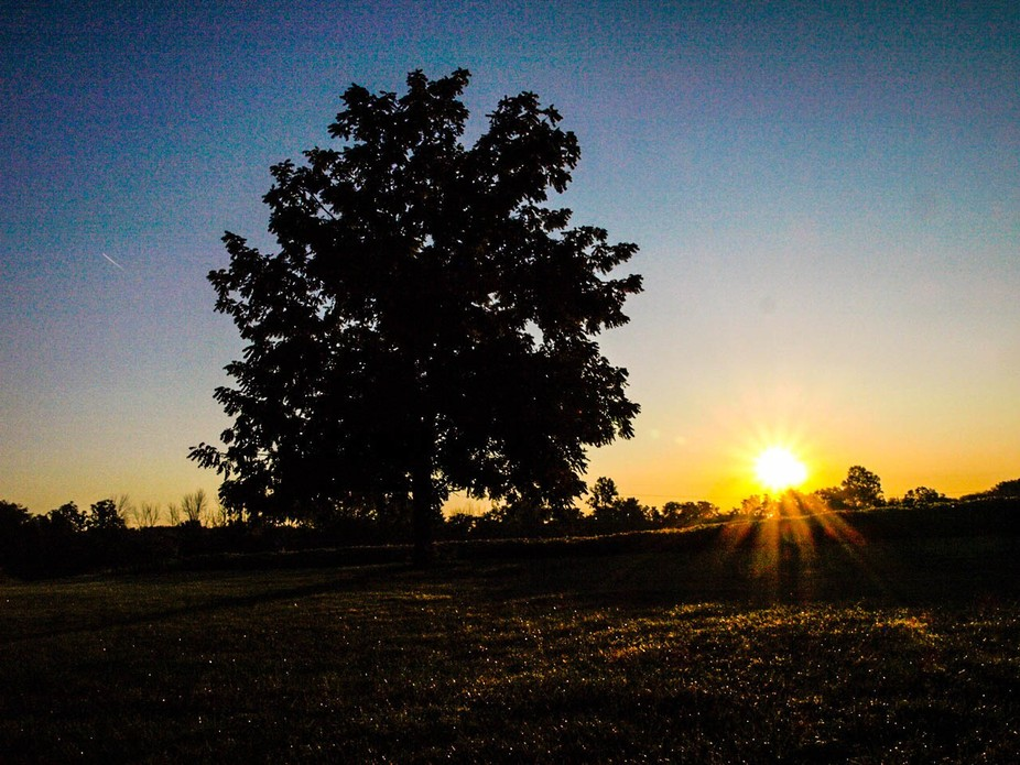 The sun rising at my daughters new home in the country