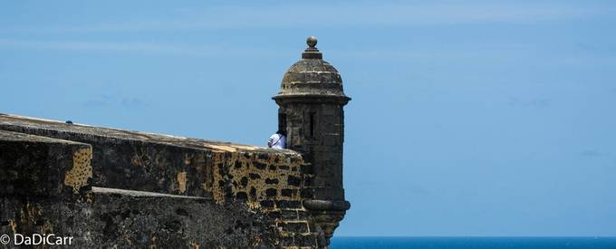 La Garrita is where the Spaniard Soldier used to stand Guard to detect the enemy ships as they approach the main Bay in Old San Juan.