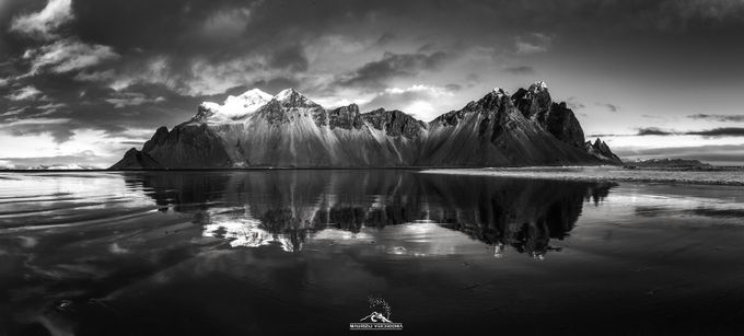 Vestrhorn by maurizioverdecchia - Black And White Mountain Peaks Photo Contest