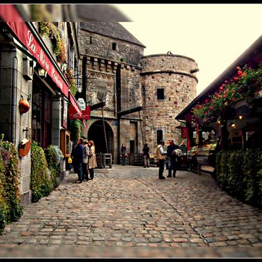 A Cobbled street in Mont ST Michael, France