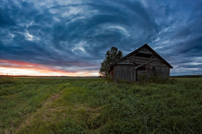 Circle Of Clouds Over The Old Barn House by k009034 - Covers Photo Contest Vol 41