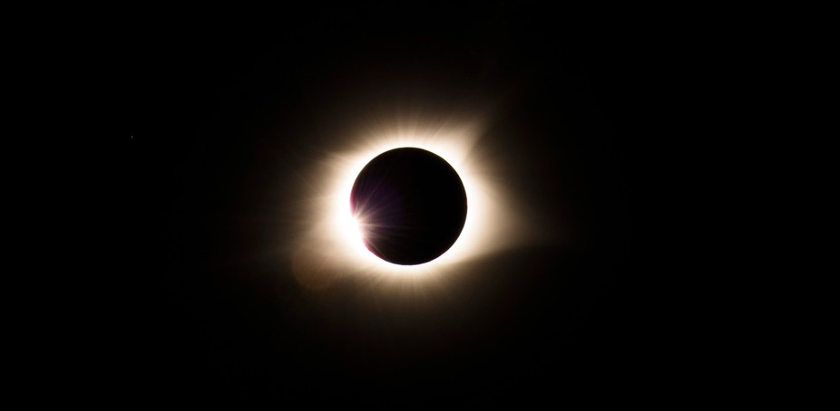A photo of the solar eclipse that spanned the US. From near De Soto Missouri.