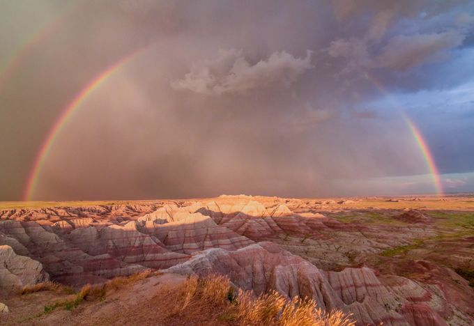 RAINBOW OVER BADLANDS by Sdonion - Curves In Nature Photo Contest