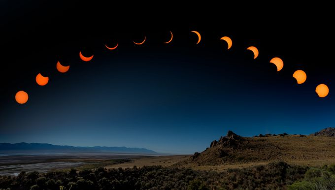 Eclipse Panorama by dakoch - Composing With Circles Photo Contest