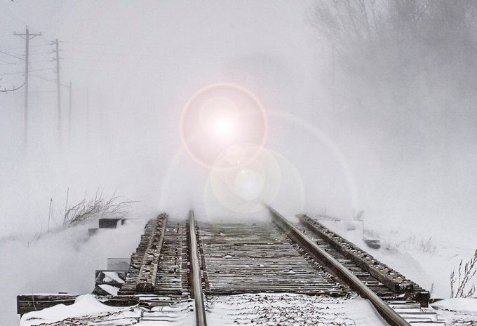 Blizzard on the Tracks by xray4u - Empty Railways Photo Contest