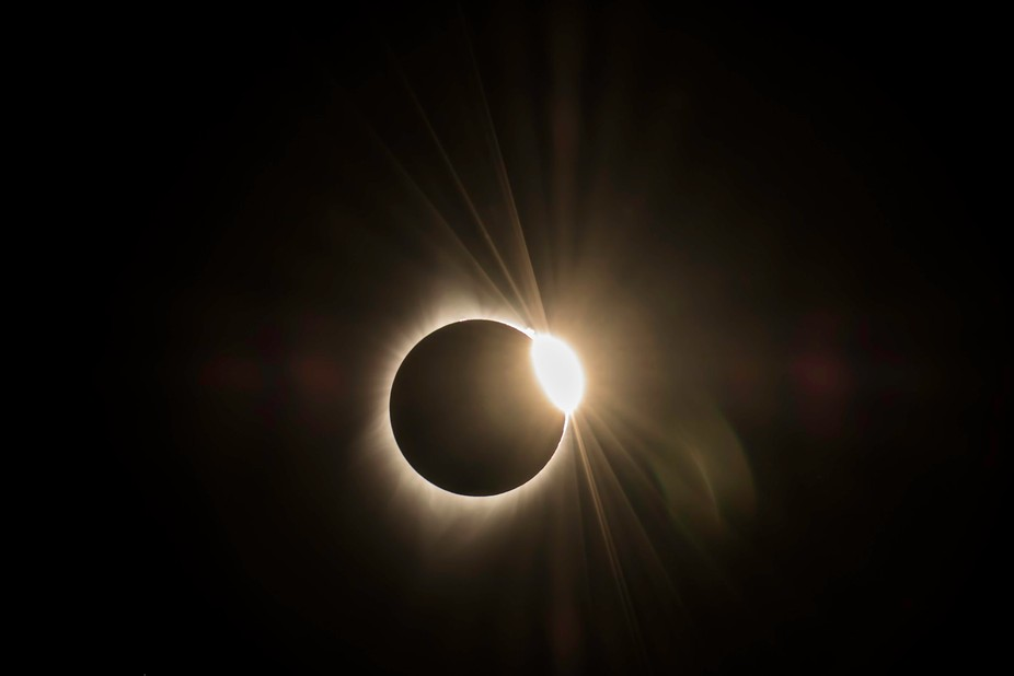 Diamond ring, Solar eclipse 2017