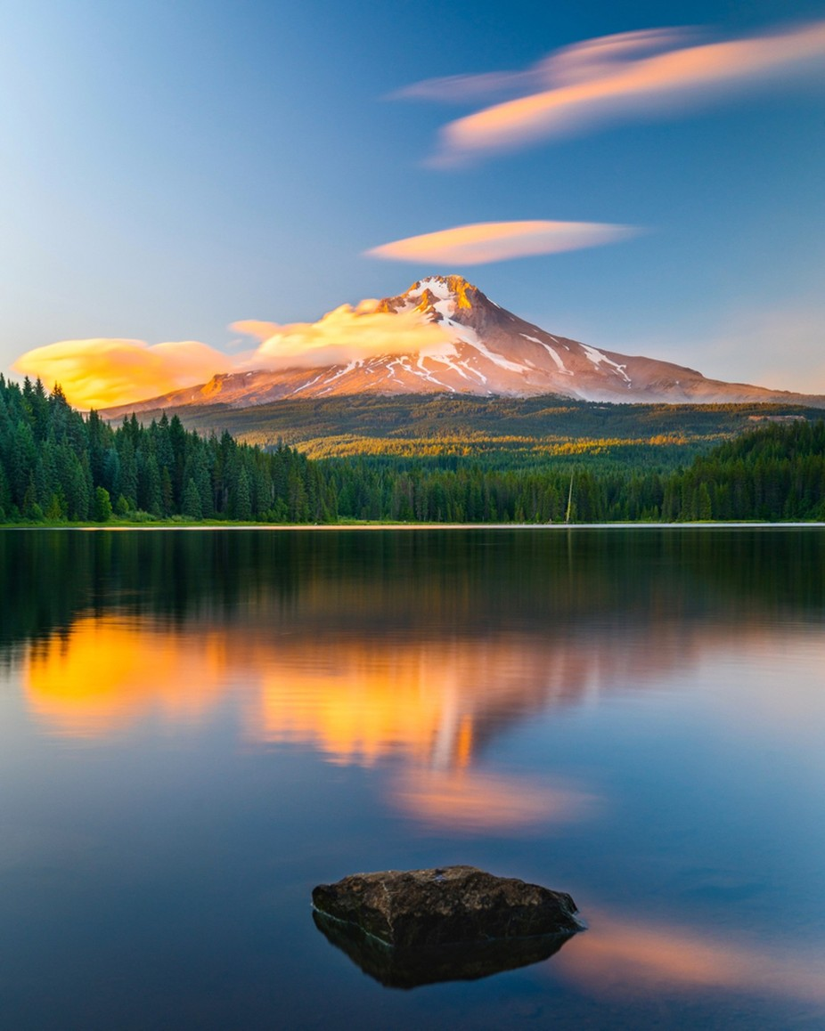 Mt. Hood over Trillium Lake by danielbraggphotos - Spectacular Lakes Photo Contest