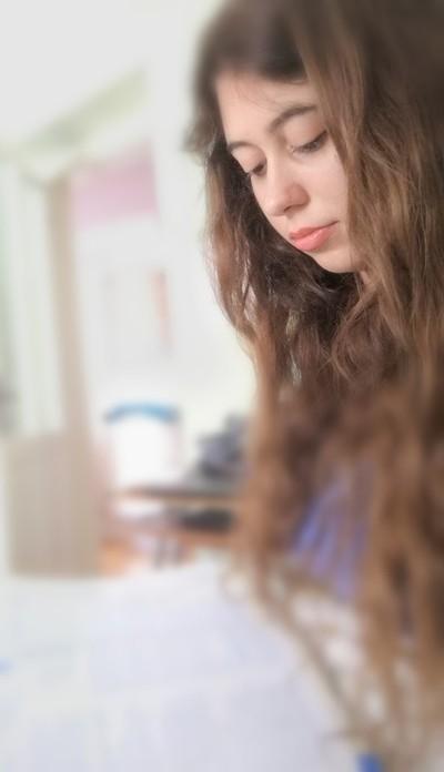 Reading, self-portrait