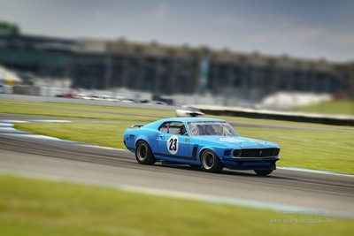 Vintage Race 23 1970 Boss 302 5th Place John Koch (blue tilt-shift) (7976) SAAC-42 Indy Motor Speedway Indianapolis, IN 6-9-2017.