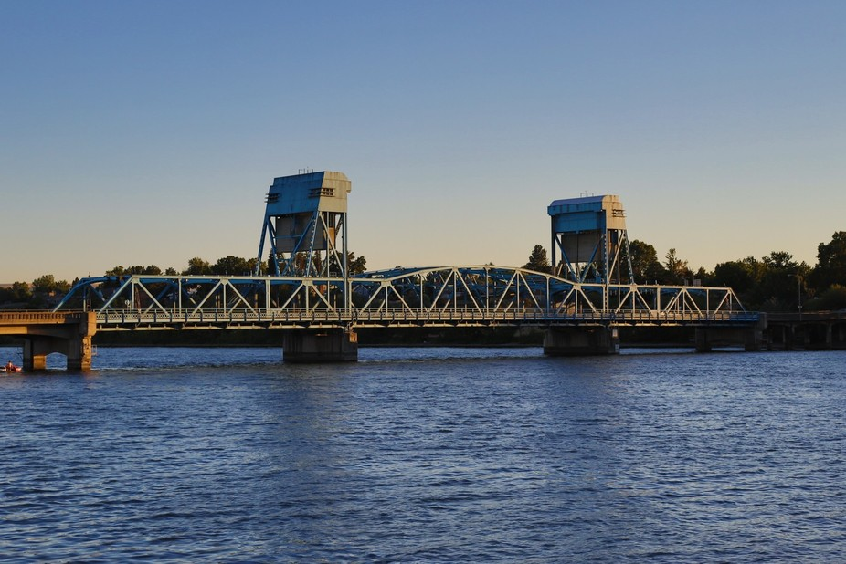 This bridge is known as the Blue Bridge. It is one of two draw bridges in my hometown, but this o...