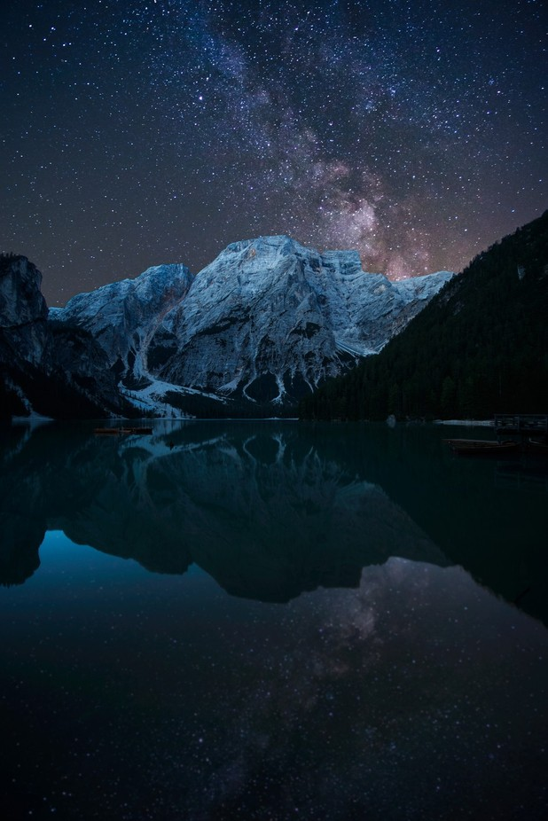 Lago Di Braies Night Final by seanewest - The Milky Way Photo Contest