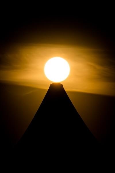 sun on the top