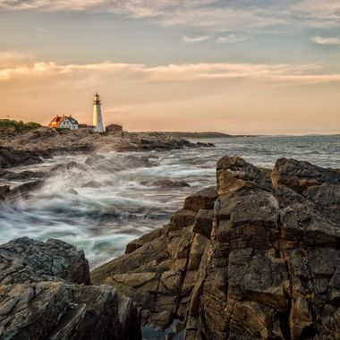 Portland Head Lighthouse in Cape Elizabeth Maine.