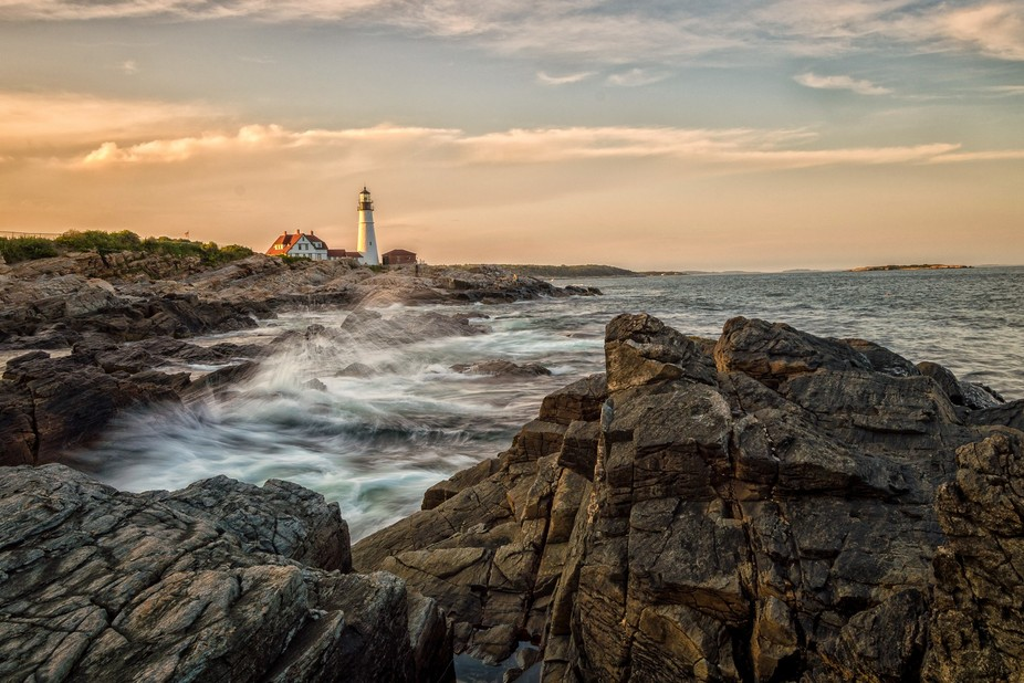 Portland Head Lighthouse in Cape Elizabeth Maine.