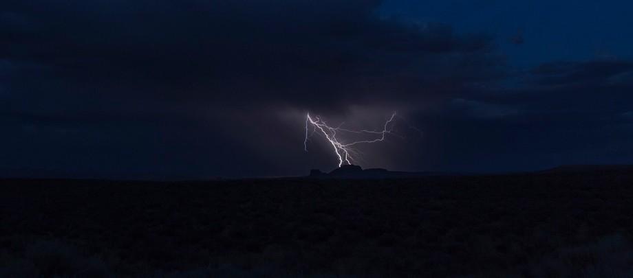 Lightning strike on the Navajo reservation - atsiniltł'ish is Navajo for lightning