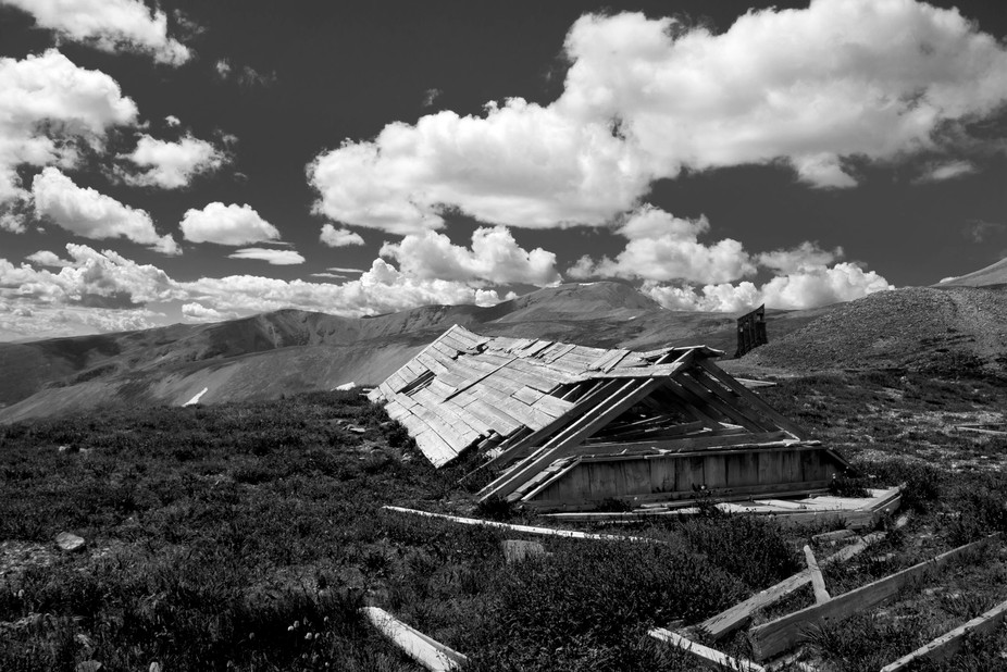 Abandoned mine on Mt. Sherman, Colorado.